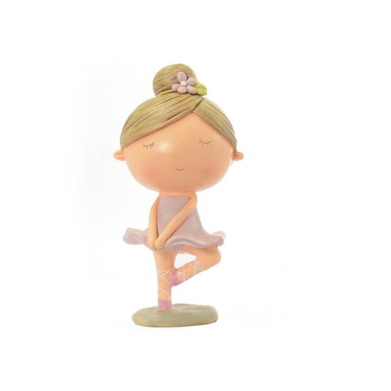 Figurine jeune ballerine DASHA DESIGNS jambe relevée