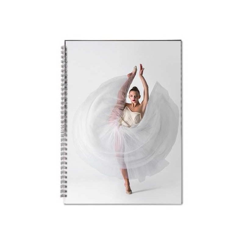 cahier spirale danseuse A4 LIKEG quadrillé