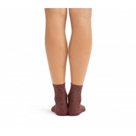 Chaussettes de ville REPETTO lurex bordeaux santal