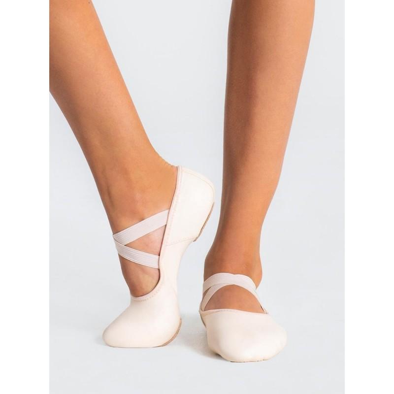 chaussons de danse demi-pointes CAPEZIO HANAMI cuir rose pâle