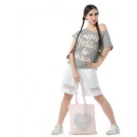 Sac de danse NON POSSO, HO DANZA 0194 shopper pink cuore