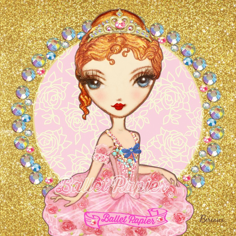 mini carnet de notes BALLET PAPIER Ballerina et Licorne