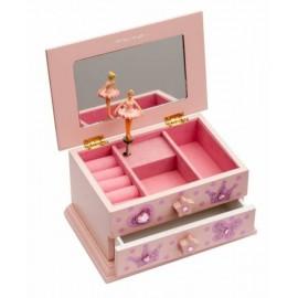 boîte à musique Ballerine rose