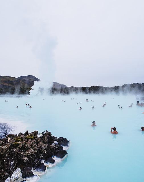Le lagon bleu, en Islande.