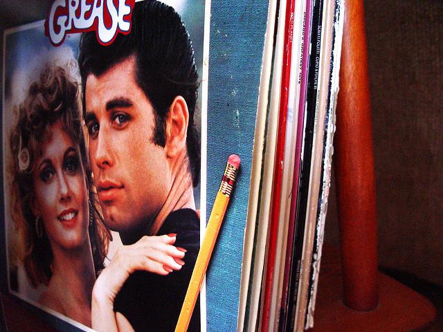 Pochette du vinyle de la BO du film Grease.