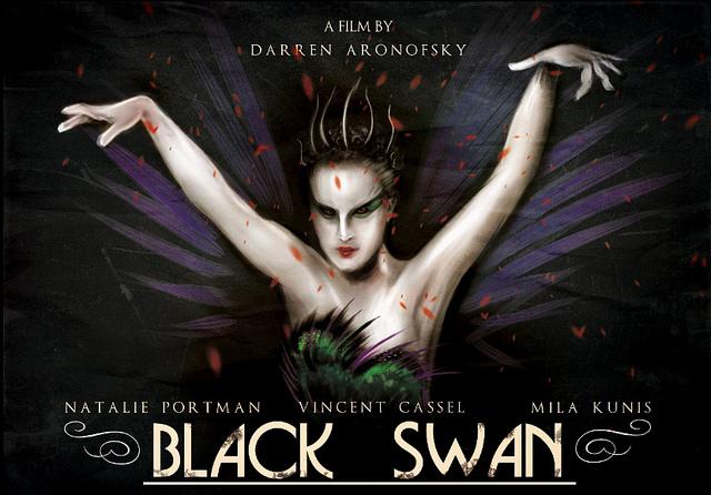 Affiche de film revisitée du film Black Swan.