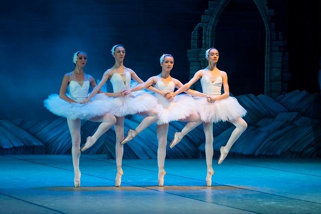 Groupe de danseuses en représentation d'un ballet.