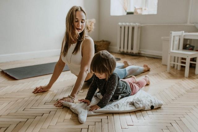 Leçon de danse pour enfant.