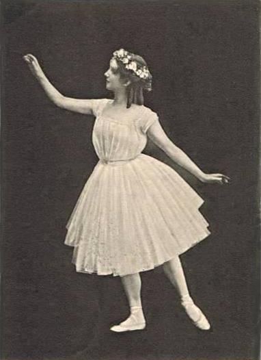 Danseuse de La Sylphide, photo d'époque