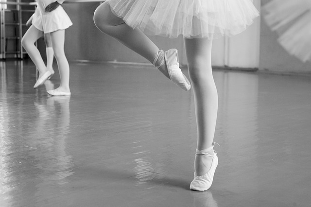 Cours de danse, ballerines