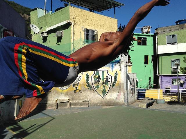 Danseur de capoeira.